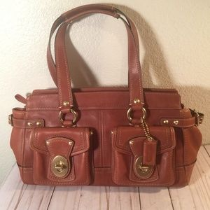 Coach Legacy Whiskey Brown Leather Satchel Bag